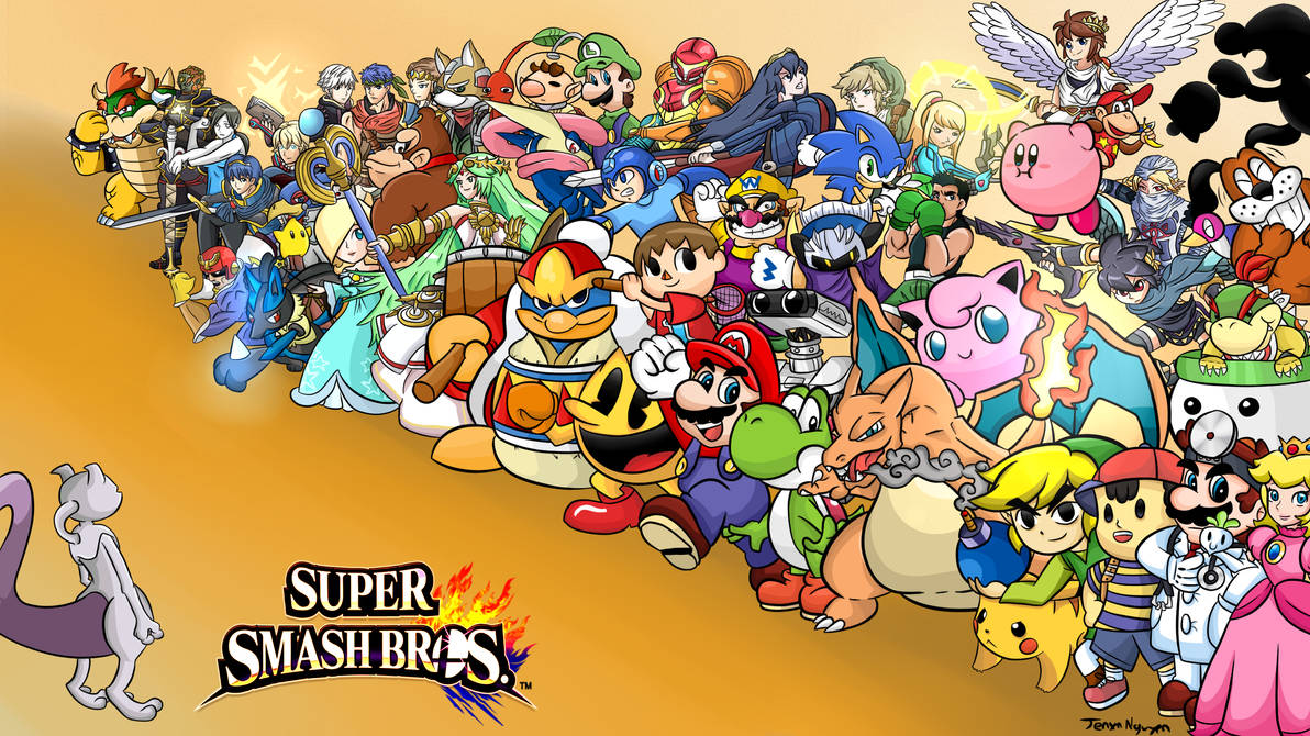 Super Smash Bros: The Roster Wallpaper + MEWTWO