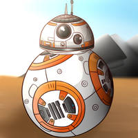 Star Wars- BB-8 by 4bitscomic