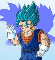 Dragon Ball Super- Vegito Blue (SPEEDPAINT ALSO) by 4bitscomic