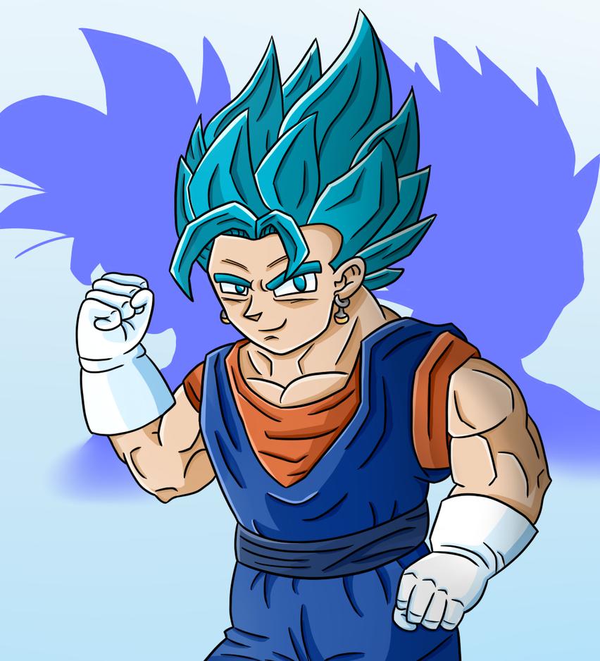 Dragon Ball Super- Vegito Blue (SPEEDPAINT ALSO) by thegamingdrawer