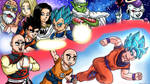 Commission: Dragon Ball Super Team 7 Wallpaper by 4bitscomic