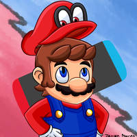 Super Mario Odyssey (Speedpaint included) by 4bitscomic