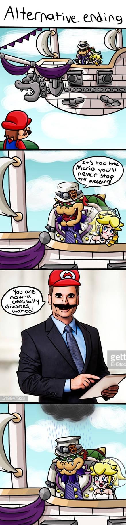 Super Mario Odyssey: Alternative Ending by 4bitscomic on