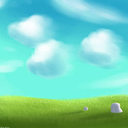 Landscape First Try: Clear Sky by 4bitscomic