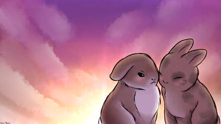 Commission: Two Bunny Lovers by 4bitscomic