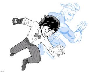 My Hero Academia Two Heroes by 4bitscomic