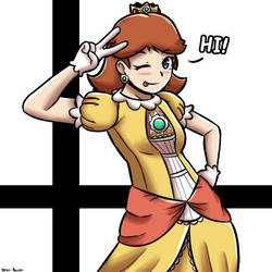 Super Smash Bros: Daisy by 4bitscomic