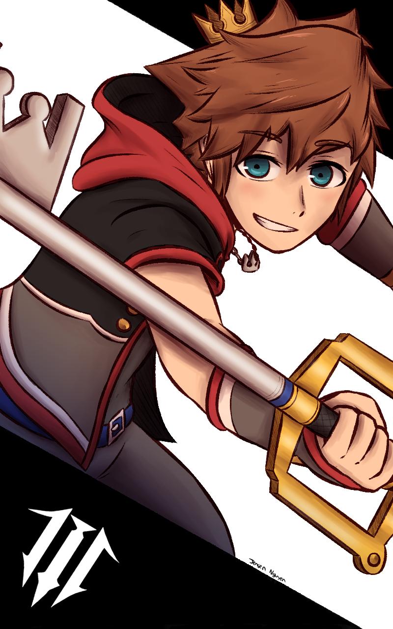 Kingdom Hearts 3: Sora Background by 4bitscomic