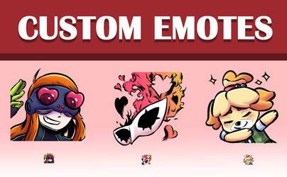 Custom Discord/Twitch Emotes (Description Below!)