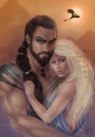 Khal and Khaleesi by Zenopic