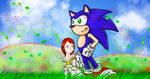 Sonic and Elise new perspective by CP-BaM-BaM