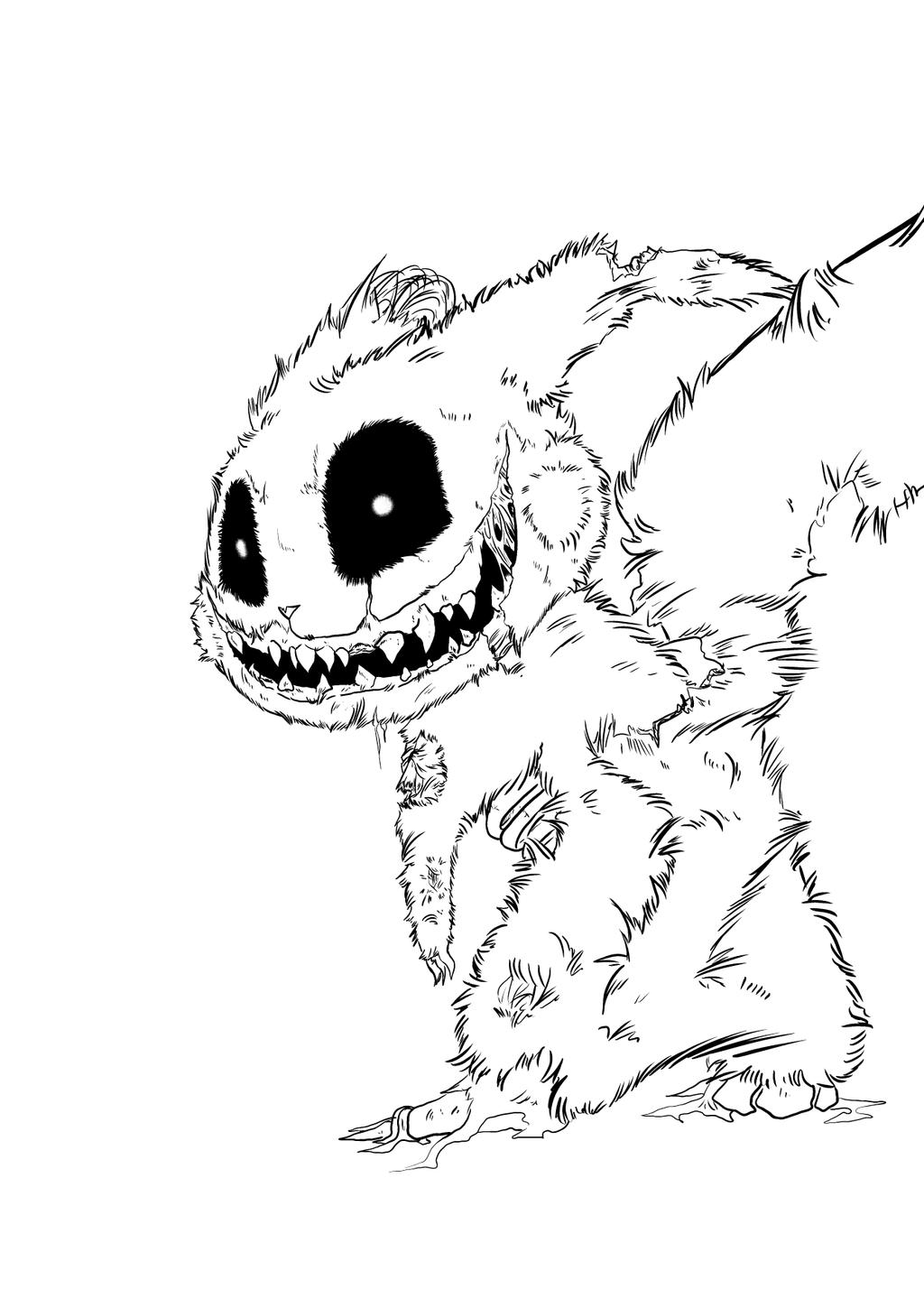 zombie pikachu coloring pages - photo#31