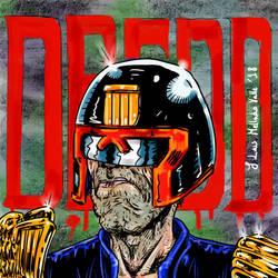 Judge Dredd portrait fan art