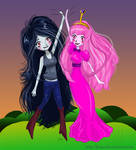 Adventure time Marceline and Princess Bubblegum