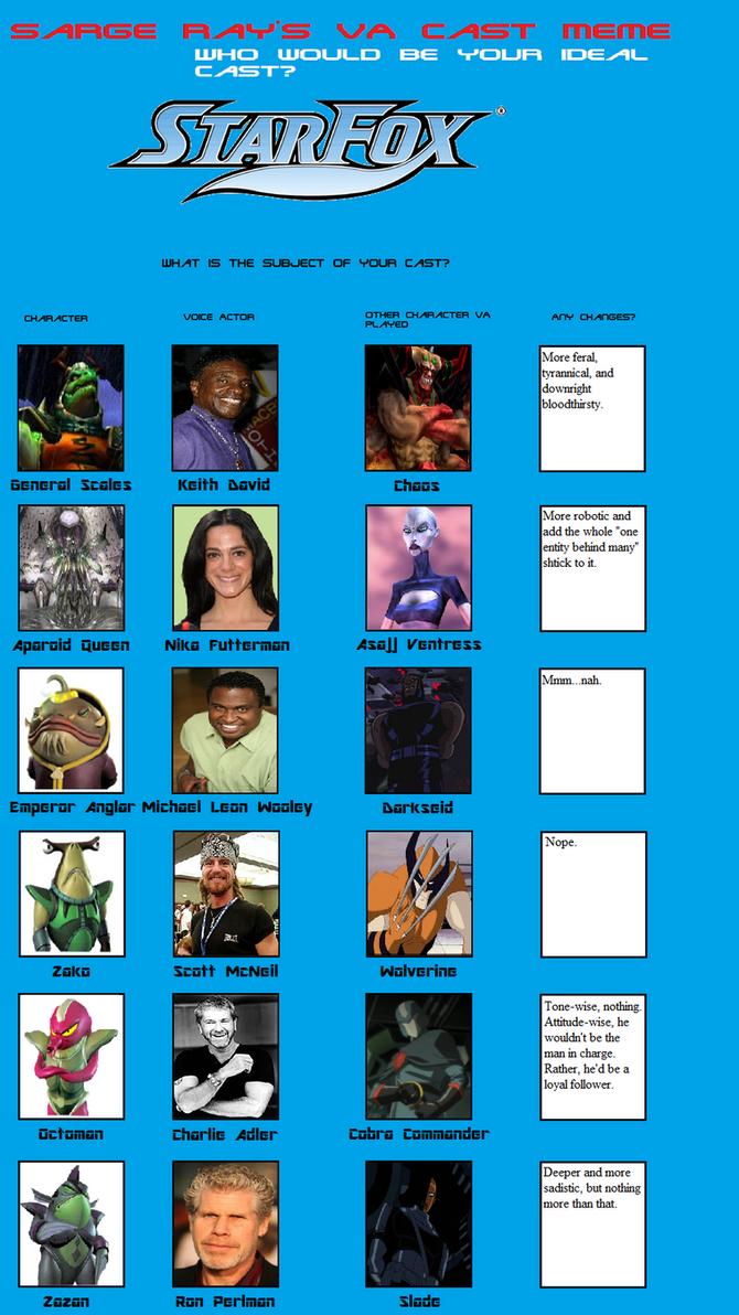Star Fox Cast pt. 4 by Dimension-Dino