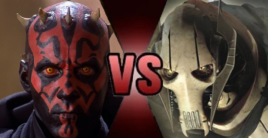 Maul vs. Grievous by Dimension-Dino