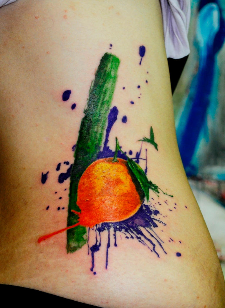 watercolor orange by koraykaragozler