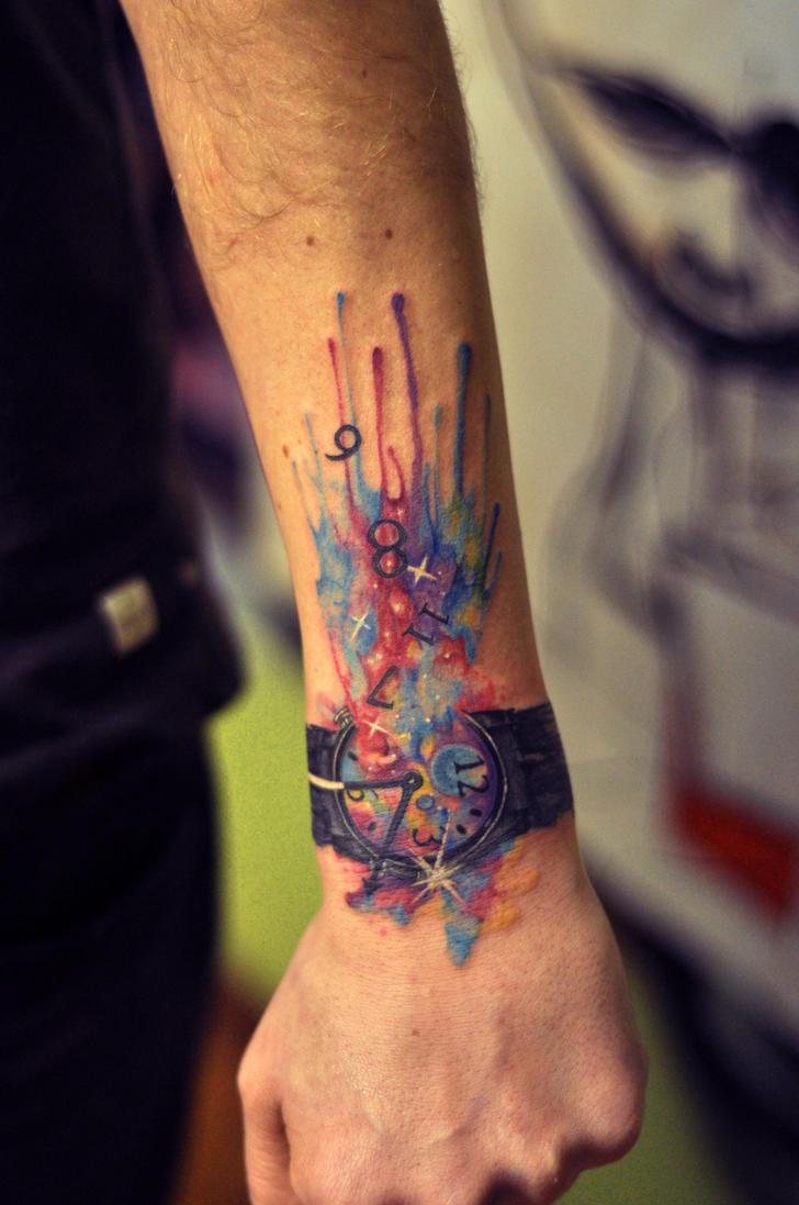 Тату акварель, фото татуировок в стиле акварель