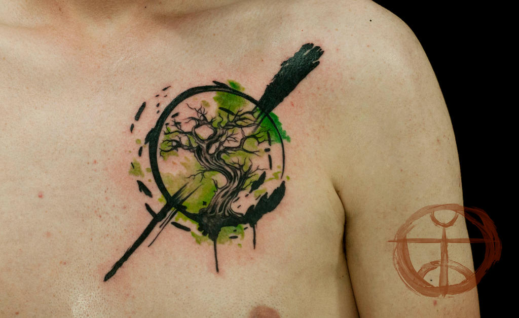 zen tree tattoo by sezaic zen circle 3 zen circle tattoos on upperZen Tree Tattoo