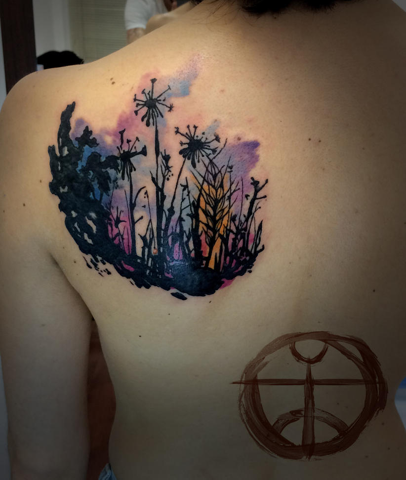 Dandelion garden by koraykaragozler on deviantart for Garden tattoos designs