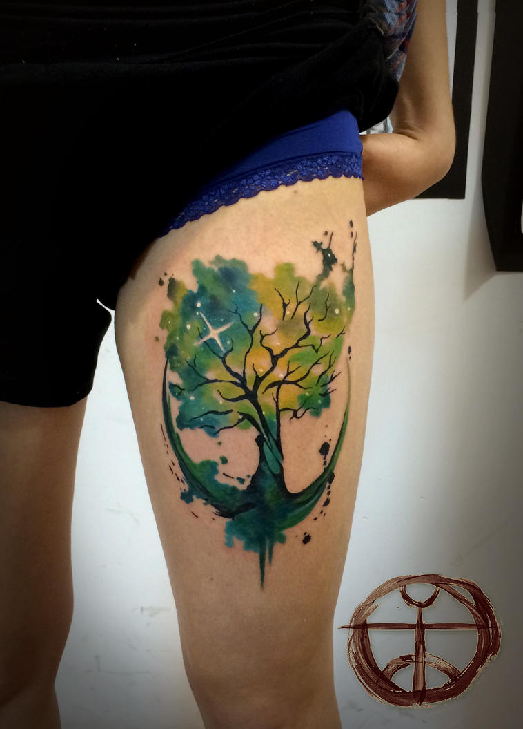 Tree of life by koraykaragozler on deviantart for Tree of life watercolor tattoo
