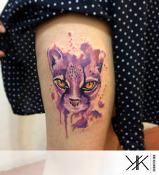 Watercolor cat by koraykaragozler