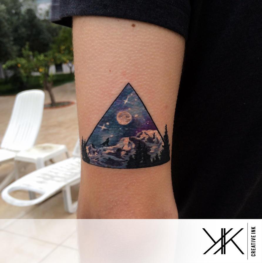triangle nature by koraykaragozler