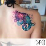 elephant with nebula