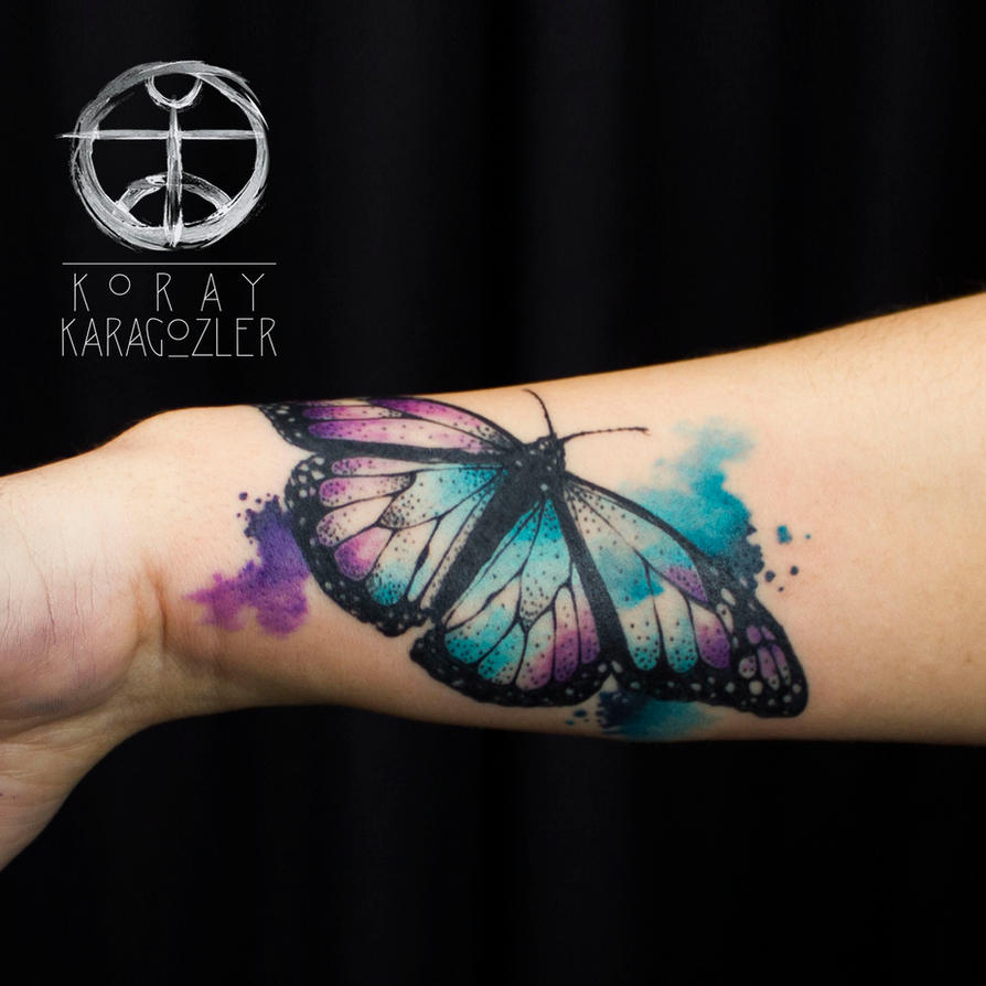 Watercolor Butterfly Tattoos: Watercolor Abstract Butterfly By Koraykaragozler On DeviantArt