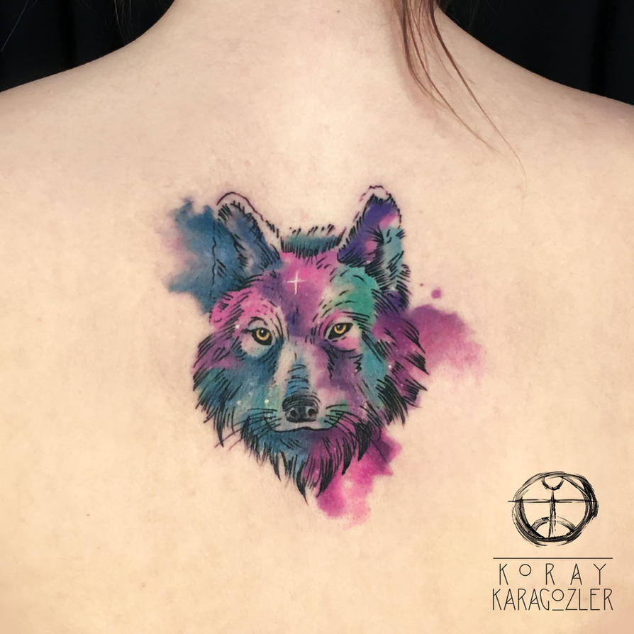 Watercolor Abstract Wolf by koraykaragozler