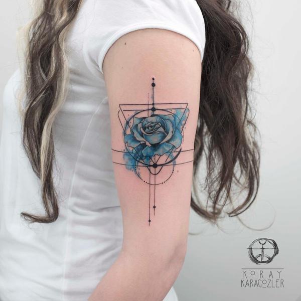 Blue rose by koraykaragozler on deviantart for Open tattoo shops near me
