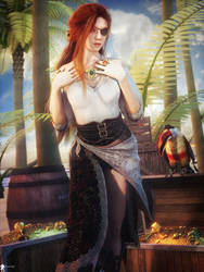 Pirate Girl 11 by LaMuserie