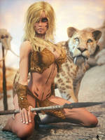 Pin-Up Barbarian 1 by LaMuserie
