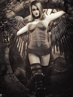 Monochrome: Black Angel 4 by LaMuserie