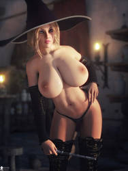 Topless Hot Witch 3 by LaMuserie
