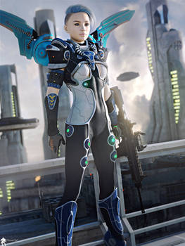 SF Futurist Girl 30