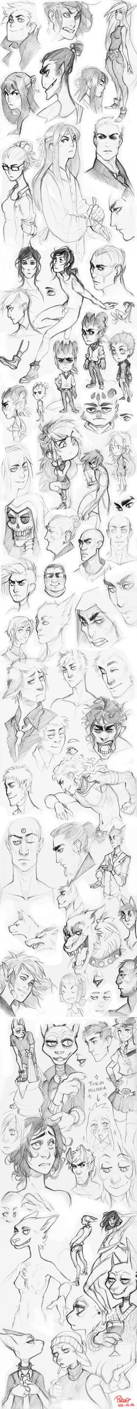 Sketch dump 02 by GoldenTar