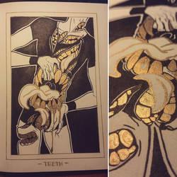 Ink/GrossTober 19: Teeth