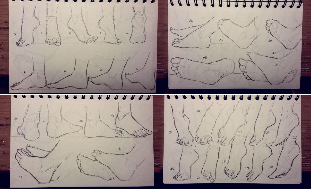 Feet study 1