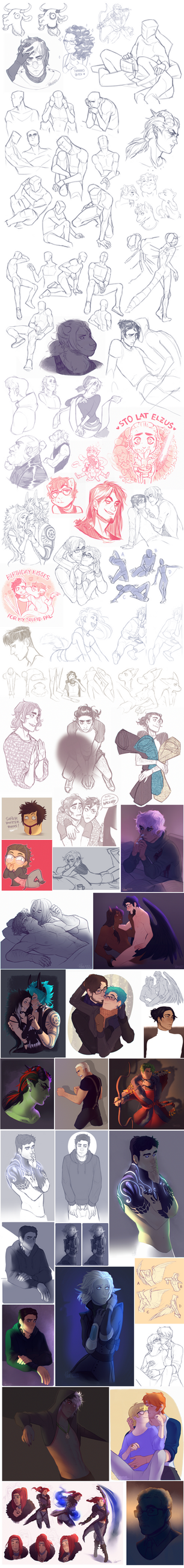 Sketch Dump 27 - End of the 2016 by Rejuch