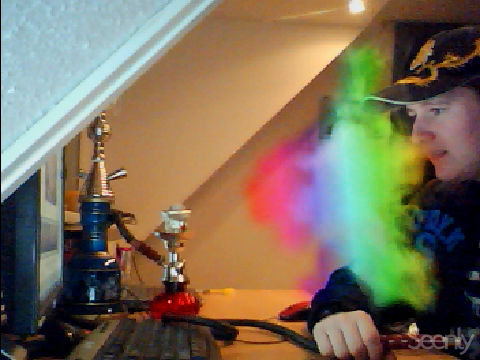 Just me smoking a rainbow by MoonMadMalkav
