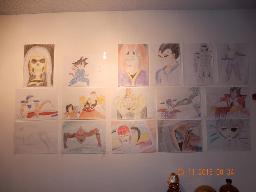 My wall, november 2015 by MoonMadMalkav