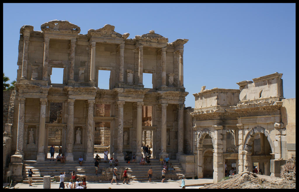 Ephesus: The Library of Celsus by C0LL1 on deviantART