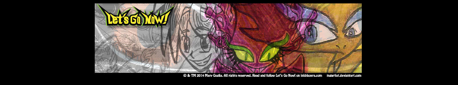 Let's Go Now! Webcomic Inkblazers Banner by MGartist
