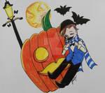 Inktober:  Happy Lil Helloween Boy