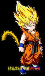 004-Kid Son Goku SSJ by Ltxalex