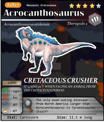 Meso Series No. B27: Acrocanthosaurus by TPH-Original