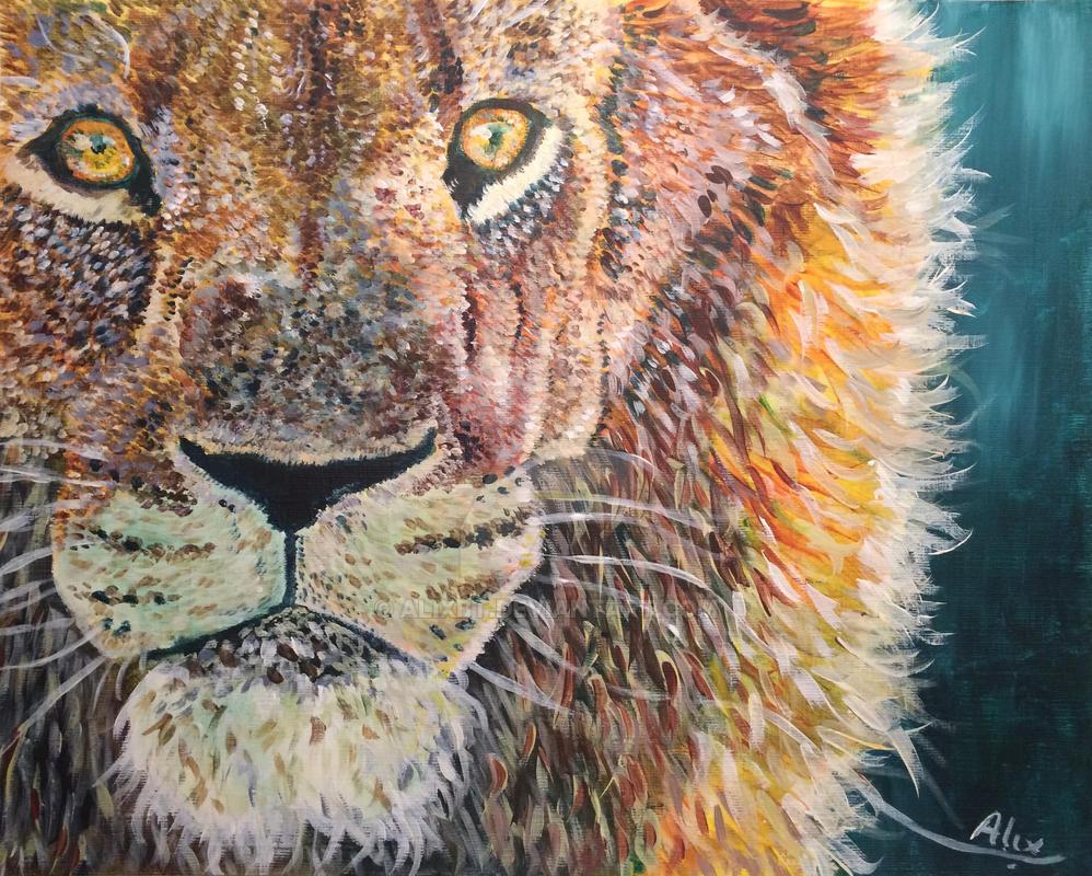 Portrait de lion by alixbt