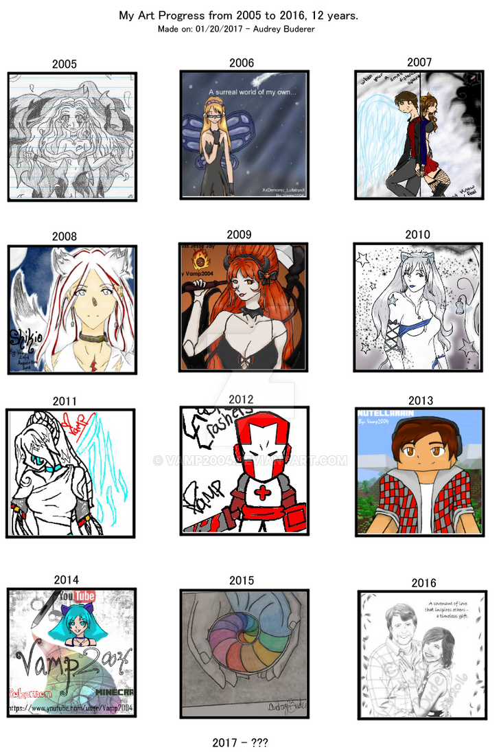 Art Progress Chart by Vamp2004