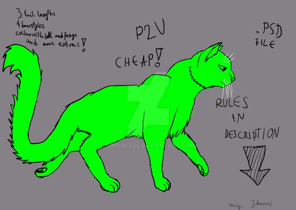 Warrior cat base PSD file, cheap, read description by jmruczus